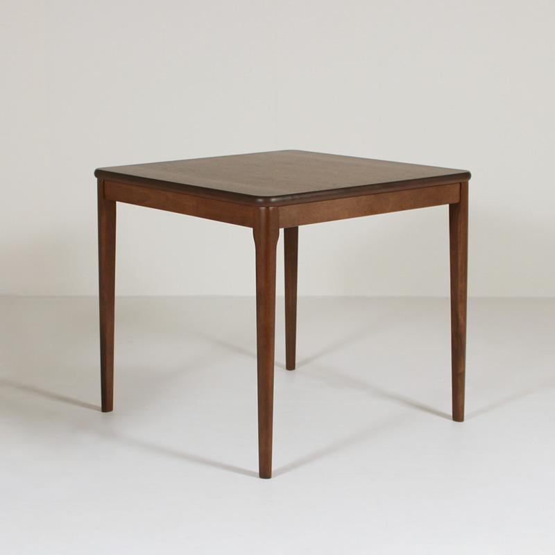 ダイニングテーブル 食卓テーブル 75cm×75cm 木製 ウォールナット突板 正方形 コンパクト おしゃれ シンプル レトロ モダン クラシック 組み立て品 送料無料 LT754-75 Table