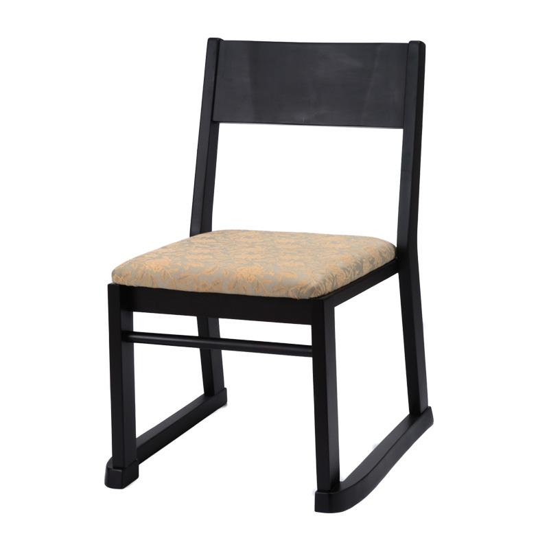 本堂椅子 高座椅子 寺院 お寺 法事 お盆 肘無し スタッキング 軽量 畳部屋 完成品 送料無料 楽座3型BK