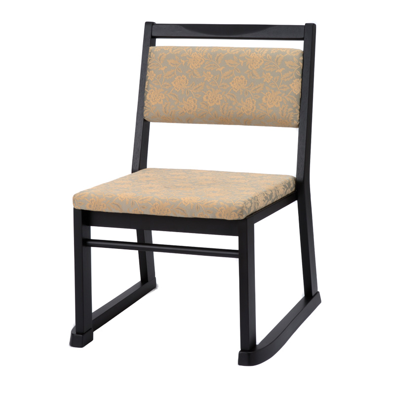 本堂椅子 高座椅子 寺院 お寺 法事 お盆 肘無し スタッキング 軽量 畳部屋 完成品 送料無料 楽座6型BK