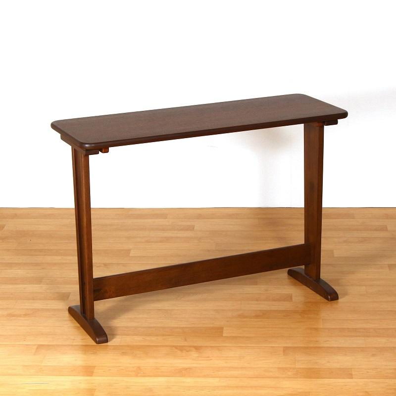 カウンターテーブル ハイテーブル 120cm×45cm 木製 ウォールナット突板 長方形 おしゃれ モダン レトロ ビンテージ 組み立て品 送料無料 Ruka Counter Table