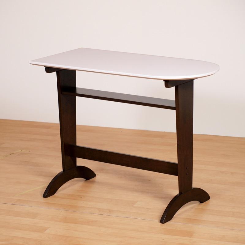 カウンターテーブル ハイテーブル 120cm×55cm 木製 MDF ハイグロス 光沢 おしゃれ シンプル 組み立て品 送料無料 Server Counter Table