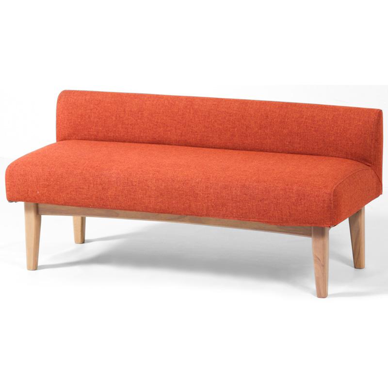 ダイニングベンチ 長椅子 木製 幅120cm 座面高40cm カバーリング 4色対応 ファブリック ナチュラル 北欧 カジュアル ゆったり座面 完成品 送料無料 Yarse Bench