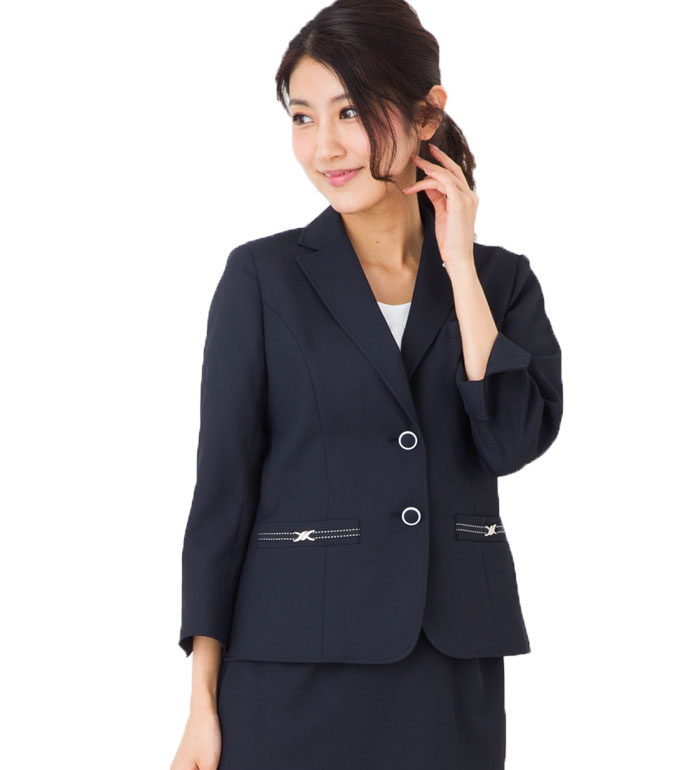 【送料無料】外回りでも活躍する涼しさと動きやすいデザイン!女性らしいシルエットが素敵な七分袖テーラードジャケット