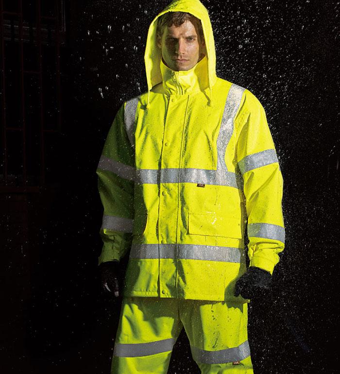 TUNP40高視認性安全レインスーツ(フード付)タカヤ商事(NIGHT KNIGHTナイトナイト)3L/4L/5L対応(大きいサイズ対応)作業服・作業着 カッパ 合羽 かっぱ レインコート メンズ レディース(衣職自由 仕事 フード付き 防水)