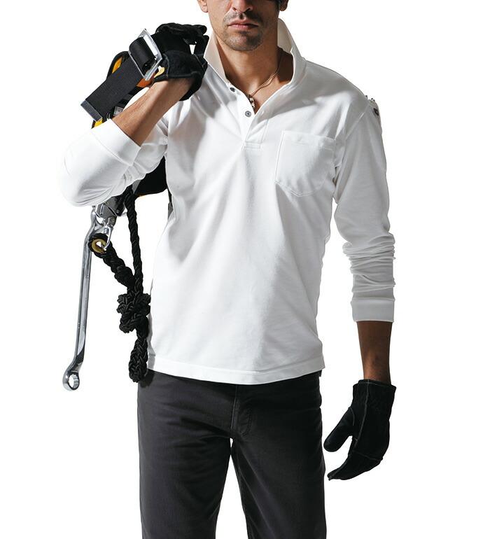 幅広いシーンに対応する高機能ポロシャツ 2015SSいしょくじゆう 505 長袖ポロシャツ バートル BURTLE ユニフォーム メンズ 作業服 仕事着 大きいサイズ対応 レディース 価格 早割クーポン