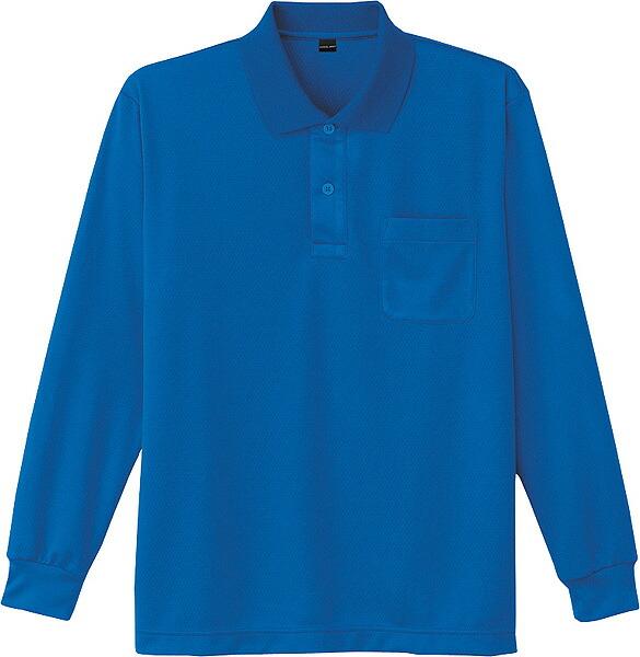 涼しさを感じる涼感加工 セールSALE%OFF 吸汗速乾 安全 消臭 抗菌加工も いしょくじゆう 自重堂 涼感 3L 4L 吸汗速乾長袖ポロシャツ 5L対応