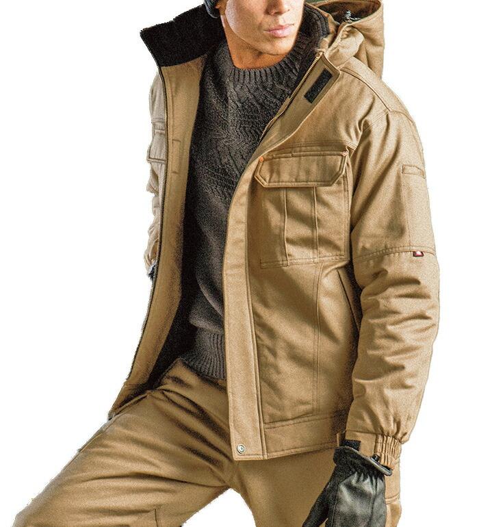 秋冬用メンズバートル(BURTLE)8110 防寒ジャケット【大型フード付】(3L/4L/5L対応)