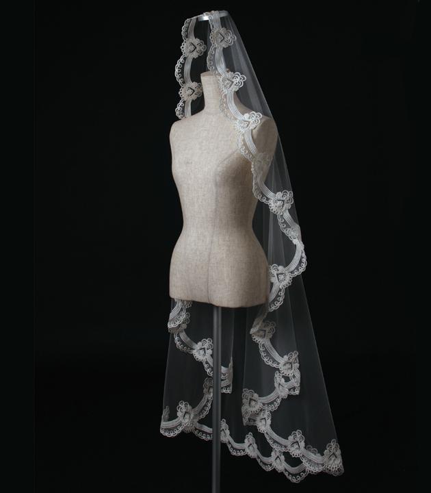 【マリアベール】【販売品】ベール ソフトチュール ウェディング ベール ウェディングドレス ウェディングベール veil 結婚式 cm-130 【送料無料】 チョコ以外【店頭受取対応商品】
