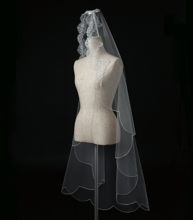 【マリアベール】【販売品】ベール ソフトチュール ウェディング ベール ウェディングドレス ウェディングベール veil 結婚式 cm-835 【送料無料】 チョコ以外【店頭受取対応商品】