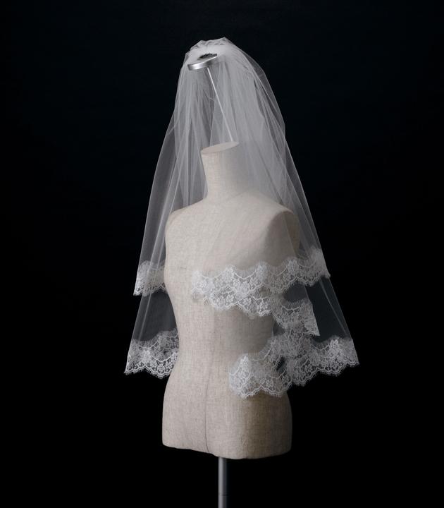 【ベール】【販売品】ソフトチュール ウェディング ベール ウェディングドレス ウェディングベール veil 結婚式 cv-110 【送料無料】 チョコ以外【店頭受取対応商品】