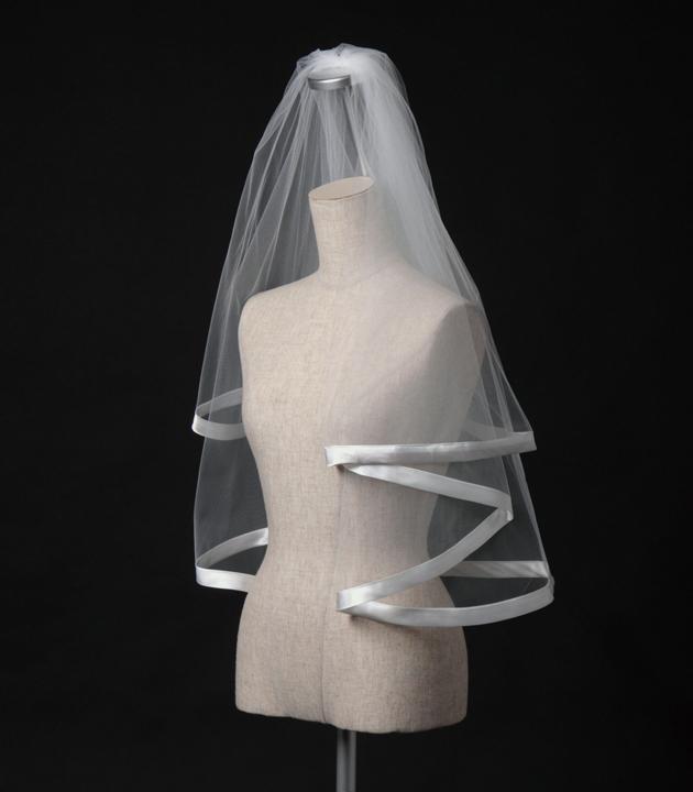【ベール】【販売品】ソフトチュール ウェディング ベール ウェディングドレス ウェディングベール veil 結婚式 cv-135 【送料無料】 チョコ以外【店頭受取対応商品】