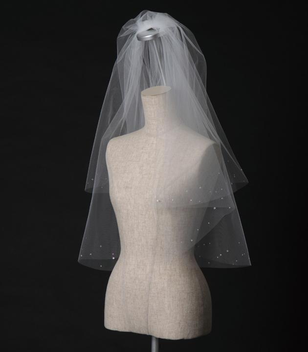 【ベール】【販売品】ソフトチュール ウェディング ベール ウェディングドレス ウェディングベール veil 結婚式 cv-161 【送料無料】 チョコ以外【店頭受取対応商品】