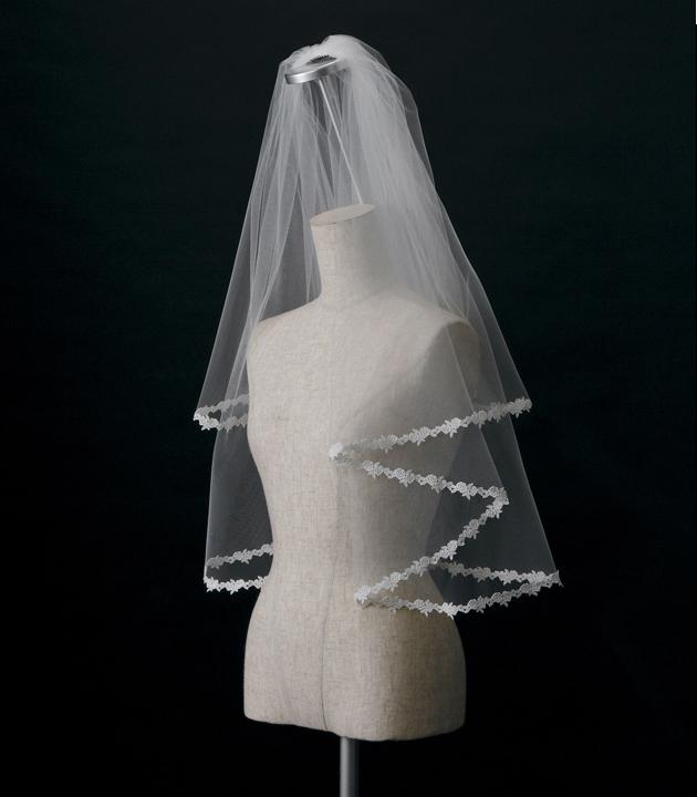 【ベール】【販売品】ソフトチュール ウェディング ベール ウェディングドレス ウェディングベール veil 結婚式 cv-204 【送料無料】 チョコ以外【店頭受取対応商品】