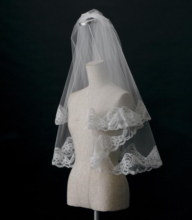 【ベール】【販売品】ソフトチュール ウェディング ベール ウェディングドレス ウェディングベール veil 結婚式 cv-207 【送料無料】 チョコ以外【店頭受取対応商品】