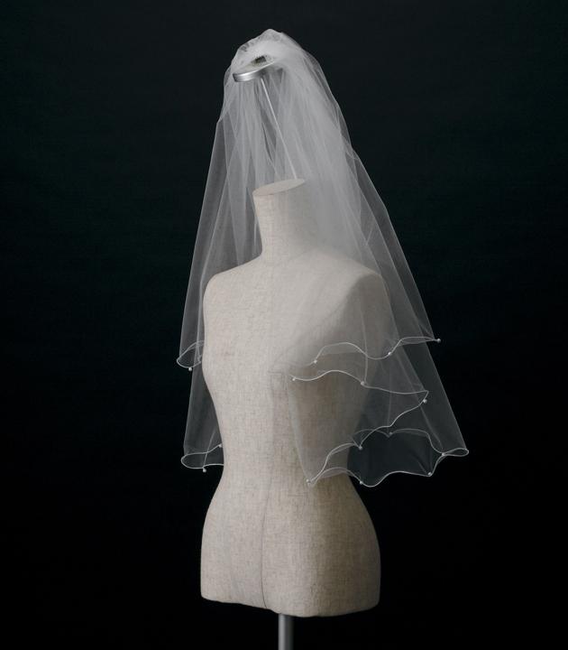 【ベール】【販売品】ソフトチュール ウェディング ベール ウェディングドレス ウェディングベール veil 結婚式 cv-607 【送料無料】 チョコ以外【店頭受取対応商品】