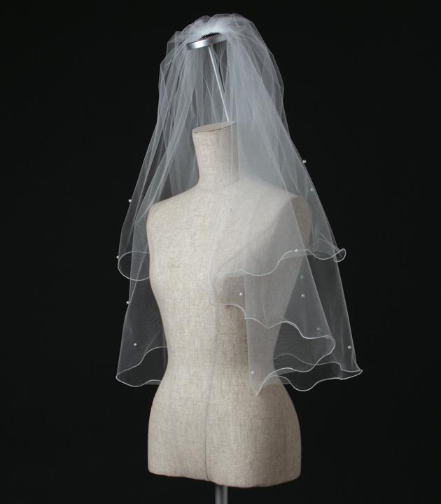 【ベール】【販売品】ソフトチュール ウェディング ベール ウェディングドレス ウェディングベール veil 結婚式 cv-635 【送料無料】 チョコ以外【店頭受取対応商品】