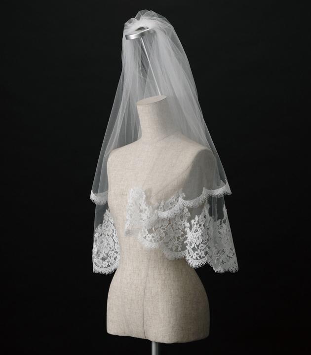【ベール】【販売品】ソフトチュール ウェディング ベール ウェディングドレス ウェディングベール veil 結婚式 cv-866 【送料無料】 チョコ以外【店頭受取対応商品】