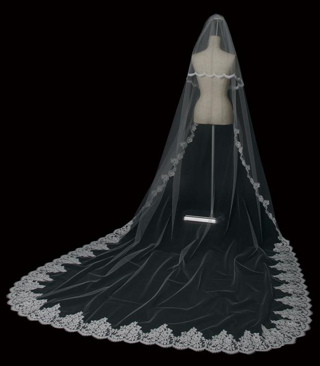 【ベール】【販売品】ソフトチュール ウェディング ベール ウェディングドレス ウェディングベール veil 結婚式 cv-866-l 【送料無料】 チョコ以外【店頭受取対応商品】