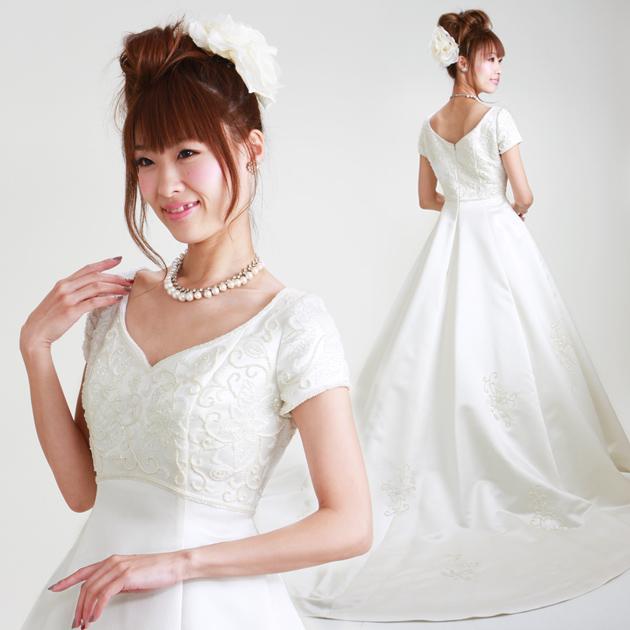 7dce0b5cc39fa  ウェディングドレス レンタル 11号  Aライン ウエディングドレス ドレス 披露宴 貸