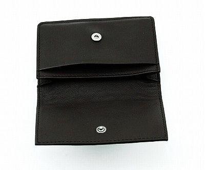 [BOTTEGA VENETA, Bottega Veneta business card holder 133945 V001U1000 leather (black)