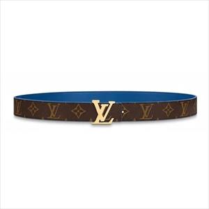 LOUIS VUITTON ルイヴィトンLVエスカル サンチュール・LVイニシャル 30MM リバーシブル / ブルー M0255U ベルト 90cm【Luxury Brand Selection】
