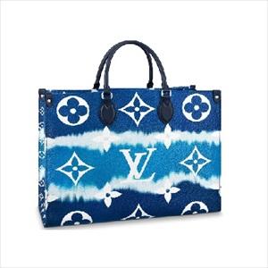 LOUIS VUITTON ルイヴィトンLVエスカル オンザゴー GM モノグラム / ブルー M45120 トートバッグ【Luxury Brand Selection】