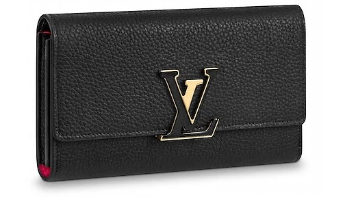 【新品】【ルイヴィトン ポルトフォイユ・カプシーヌ / ノワール 】 LOUIS VUITTON M61248 財布【Luxury Brand Selection】