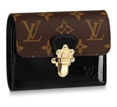 【新品】【ルイヴィトン ポルトフォイユ・チェリーウッド コンパクト モノグラム/ ノワール 】 LOUIS VUITTON M61912 財布【Luxury Brand Selection】