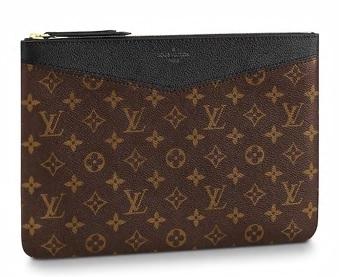 【新品】【ルイヴィトン デイリーポーチ モノグラム/ ノワール 】 LOUIS VUITTON M62048 ポーチ【Luxury Brand Selection】