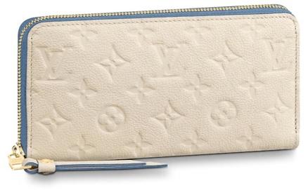 【ルイヴィトン ジッピーウォレット アンプラント/ Bleu Jean / Cr?me 】 LOUIS VUITTON M63925 長財布【Luxury Brand Selection】