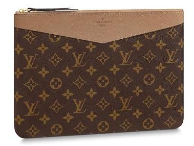 【ルイヴィトン デイリーポーチ モノグラム/ セサミ 】 LOUIS VUITTON M64591 ポーチ【Luxury Brand Selection】