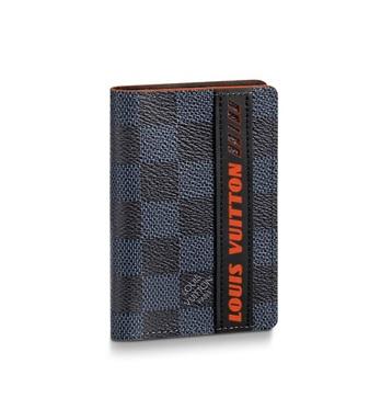 【ルイヴィトン オーガナイザー・ドゥポッシュ コバルト】 LOUIS VUITTON N60238 メンズカードケース【Luxury Brand Selection】