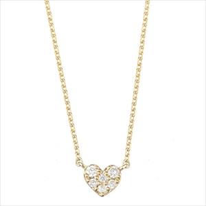 Marea rich マレア リッチ14KJ-12 K10×ダイアモンド ハート ネックレス ペンダント Precious Heart Necklace 【Luxury Brand Selection】