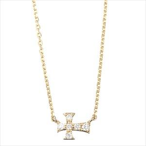 Marea rich マレア リッチ14KJ-14 K10×ダイアモンド クロス ネックレス ペンダント Precious Cross Necklace 【Luxury Brand Selection】