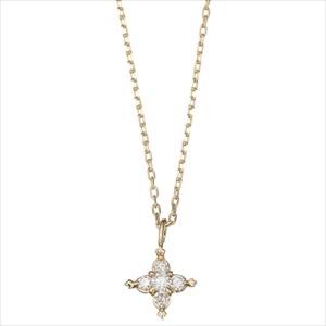 Marea rich マレア リッチ16KJ-03 K10×ダイアモンド スターモチーフ ネックレス ペンダント Precious Star Necklace 【Luxury Brand Selection】
