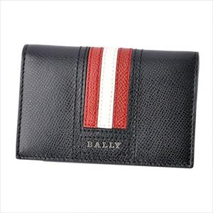 BALLY バリーTYKE.LT 10 6218025 バリーストライプ パスケース付 カードケース 名刺入れ 【Luxury Brand Selection】