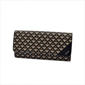 BALLY バリーCIMETTA 51 6194632 二つ折り 長財布 CRESCENT TOILE 【Luxury Brand Selection】