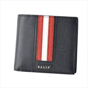 BALLY バリーTEISEL.LT 210 6218013 バリーストライプ 小銭入れ付 二つ折り財布 【Luxury Brand Selection】
