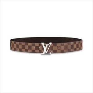 【新品】LOUIS VUITTON ルイヴィトンサンチュール・LVイニシャル 40MM リバーシブル ダミエ・エベヌ / マロン M0212T【Luxury Brand Selection】
