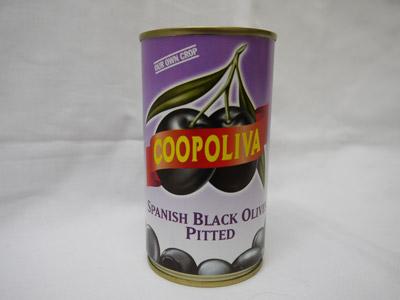 コーポリーバ 黒オリーブ 種なし 350g スペイン産