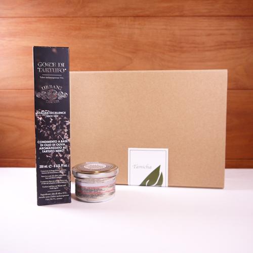 ウルバーニ社 黒トリュフオイル 250ml 白トリュフ塩 100g セット 高級 ギフト ボックス付き イタリア産 プレゼント 内祝い 引き出物