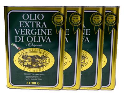 サンジュリアーノ エキストラバージンオリーブオイル イタリア サルディーニャ州 3L×4本