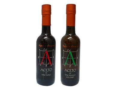 ワインの作り手 ポイエル・エ・サンドリ の高級 ビネガー (赤ワインビネガー、白ワインビネガー) イタリア産 2種セット