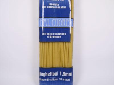 デュラム小麦のセモリナを使用したパスタ! ダル クオーレ社 パスタ スパゲットーニ 1.9mm 500g イタリア産