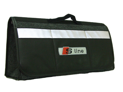 アウディAUDI-S Lineのトランク内収納ケース,エンブレムバック,ピクニックバッグ