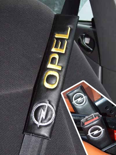 オペル OPELのシートベルトカバーパッドのエンブレム(2枚セット)