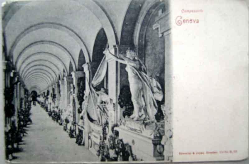 1900年発行のジェノバお部屋のインテリアにイタリアのアンティークショップで見つけた絵ハガキと切手