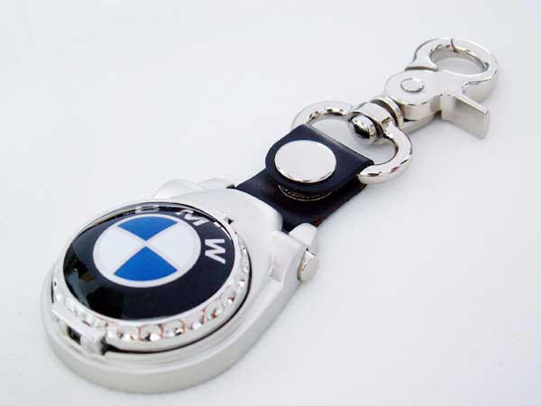 ビーエムダブリュ BMWの時計付きキーホルダーイタリア国内販売用