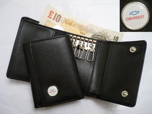シボレー Chevrolet の本革キーホルダー,キーケース付きお財布
