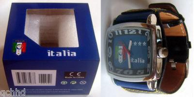サッカー 時計,Italy Italia イタリアナショナルチームの腕時計はイタリアのお土産です。